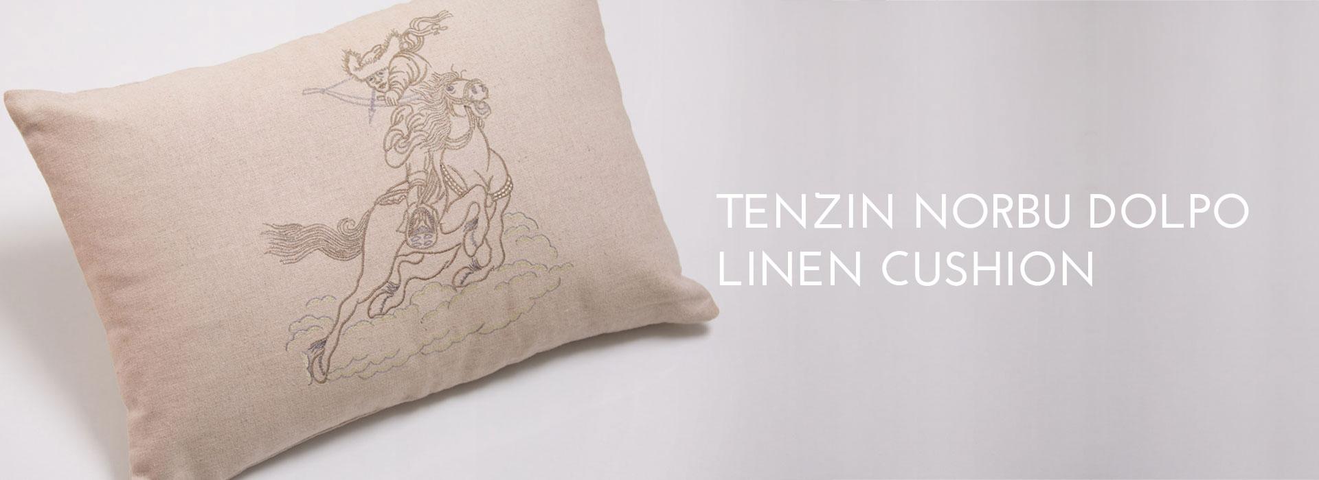 Tenzin Norbu Dolpo Linen Cushion