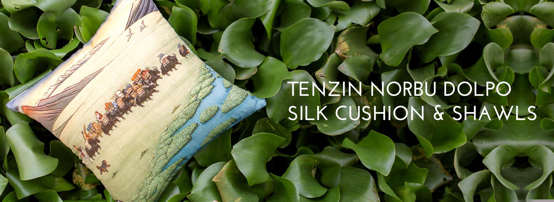 Tenzin Norbu Dolpo Silk Cushion & Shawls